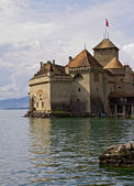 Chateau de Chillon on Lake Geneva — Stock Photo