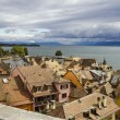 Royalty-Free Stock Photo: Nyon roofs and lake Geneva