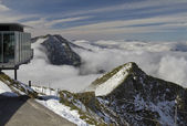 Alpine panorama at the top of the Niesen — Stock Photo