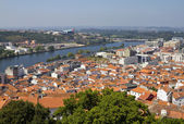Coimbra city and river Mondego — Stock Photo
