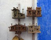 Wooden birdhouses — Stock Photo