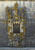 Tomar Castle - the famous chapterhouse window — Stock Photo