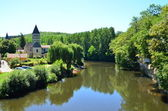 Village at the river Vézère in the Dordogne — Stock Photo