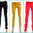 Stock Photo: Pair of colored jeans, isolated