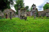 The ruins of historic St-baafs abbey in Ghent, Belgium — Stock Photo