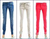 Paire de jeans de couleurs — Photo