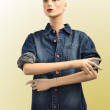 Shirt in blue denim — Stock Photo #12557007