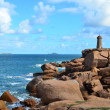 Lighthouse of Ploumanach, Cote de granit rose in Brittany, France — Stock Photo #13788994