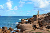 The lighthouse of Ploumanach, Cote de granit rose in Brittany, France — Stock Photo