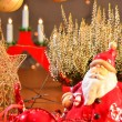 SantClaus, Christmas decoration — Stok Fotoğraf #14979189