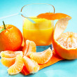 Mandarin and sinas juice — Stock Photo #32659113