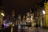Ghent historical centre by night — Stock Photo