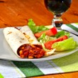 Vegetarian fajitas  — Stock Photo
