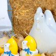 Easter chicken and egg decoration — Stock Photo #33583357