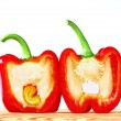 Red bell pepper on white background — Stock Photo #33583491
