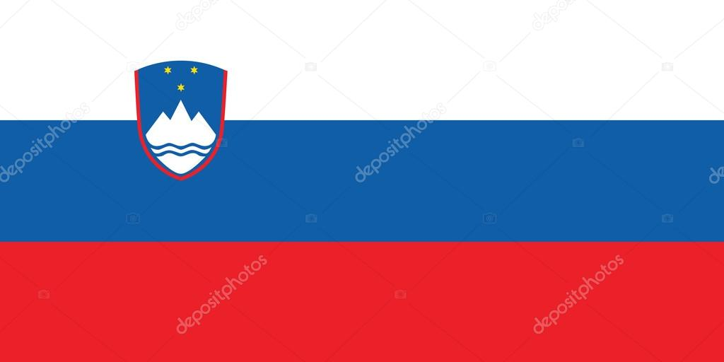 Flag of Slovenia vector illustration — Stock Vector #14368319
