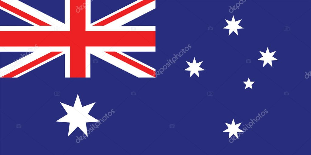 Flag of Australia vector illustration  Stock Vector #14553039