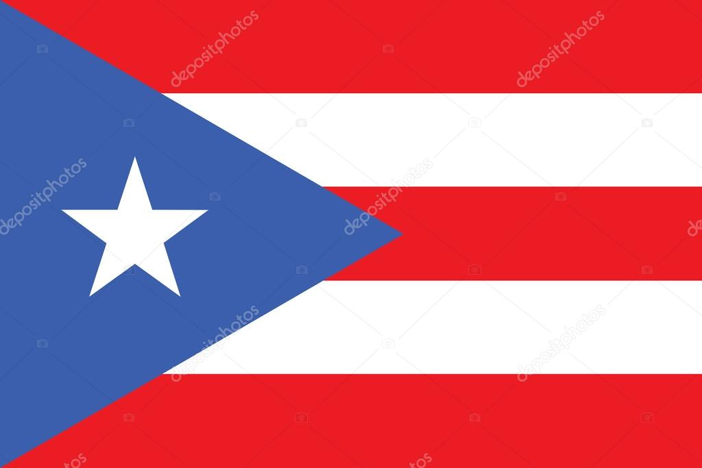Flag of Puerto Rico vector illustration  Stock Vector #14756801
