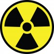 Stock Vector: Radiation danger