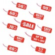 Royalty-Free Stock Vector Image: Red sale labels