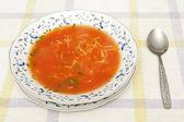 Sopa de tomate — Fotografia Stock