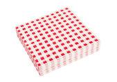 Red napkins — Stock Photo