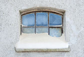Winter window — Stock Photo