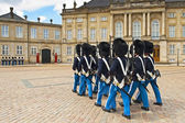 Royal Guard in Copenhagen in Denmark — Stock Photo