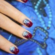 Festive nail design. — Stock Photo
