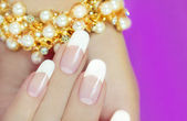 French beautiful manicures. — Stock Photo