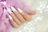 French long manicure. — Stock Photo