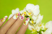 Art nail design. — Stock Photo