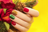 Multicolor manicure. — Stock Photo