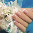 Wedding manicure. — Stock Photo #44127611