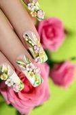 Summer acrylic roses. — Stock Photo