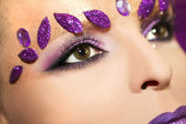 Purple makeup . — Stock Photo