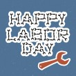 Happy labor day — Stock Vector