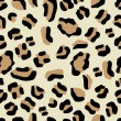 Seamless Leopard Pattern — Stock Vector