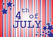 Amerikanska självständighetsdagen - 4 juli — Stockvektor