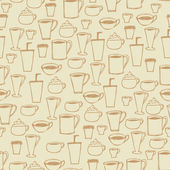 Seamless Coffee Cup Background — Vector de stock