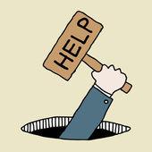 Help Sign — Stock Vector