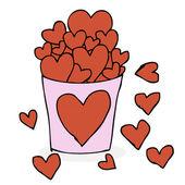 Heart in the bucket — Stock Vector