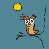 Mr. Owl — Stock Vector