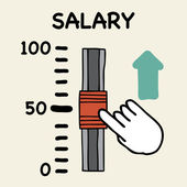 Salary scale — Stock Vector