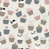 Seamless Cupcake Background — Stock Vector