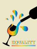 Equality Wine — Stock Vector