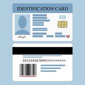 Id Card — Stock Vector