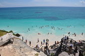 Beach at Tulum Mayan Ruins in Mexico — Stock Photo
