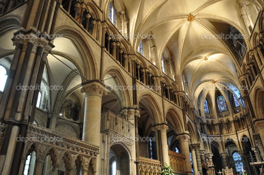 Interior de la catedral de canterbury foto de stock for Catedral de durham interior