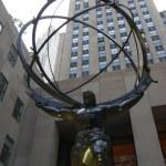 Atlas Statue in New York City — Stock Photo